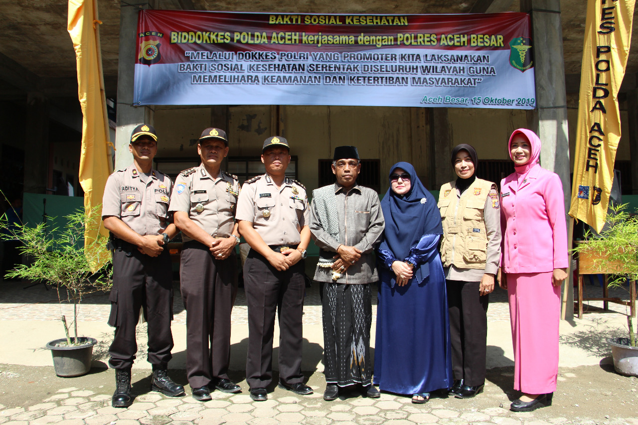 Ditbinmas Dan Biddokkes Polda Aceh Gelar Bakti Kesehatan di Aceh Besar