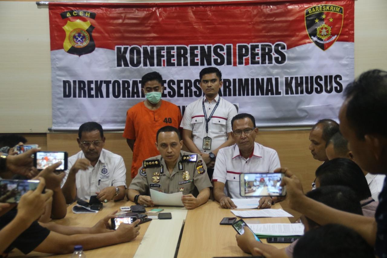 Polda Aceh Amankan Pemuda Pelaku Tindak Pidana ITE