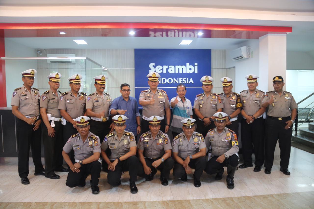 Dirlantas Polda Aceh Kunjungi Harian Serambi Indonesia