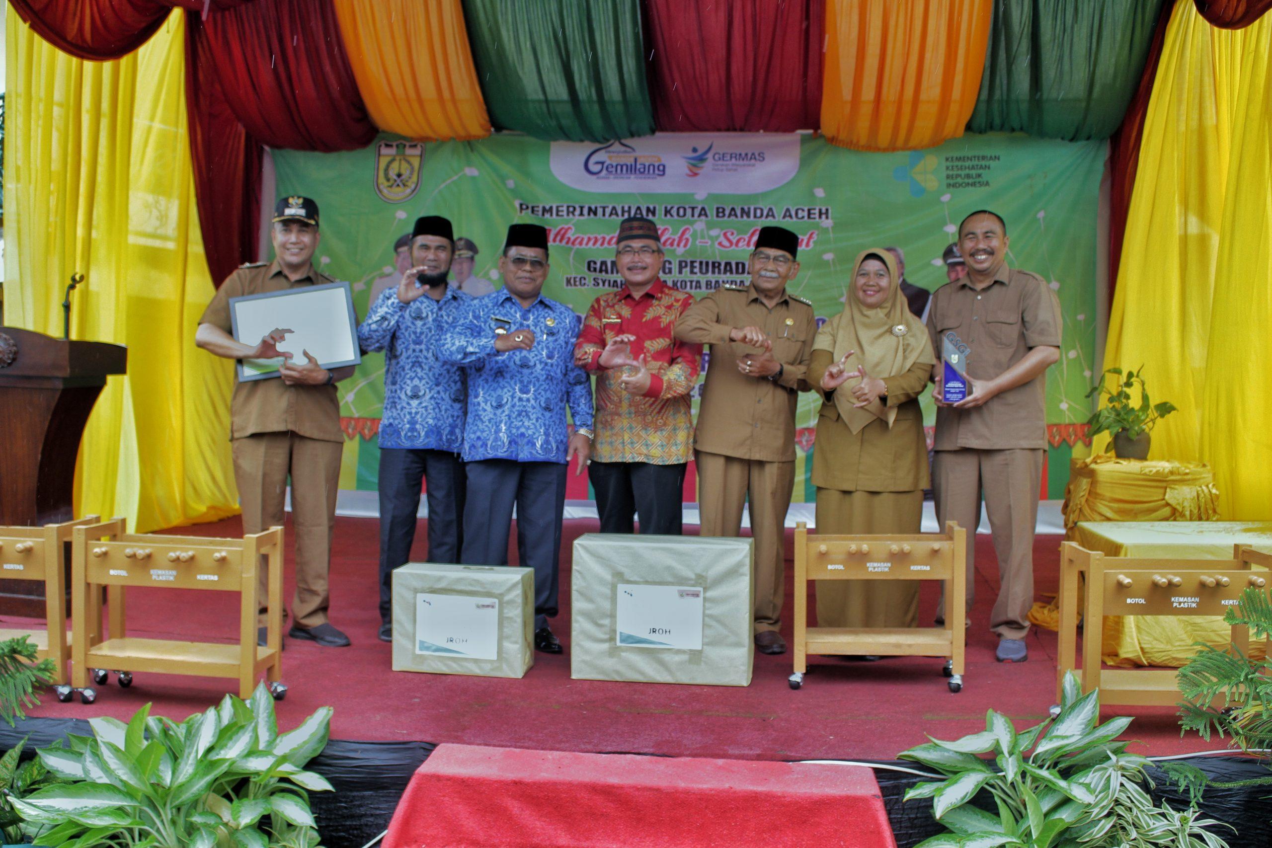 Gampong Peurada Dinobatkan Sebagai Juara Gampong Sehat Gemilang