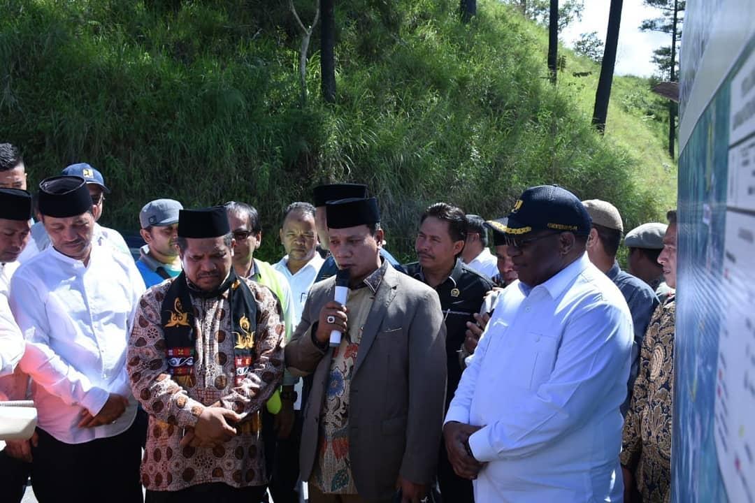 Wakil Menteri PUPR Tinjau Lokasi Pembangunan Jembatan Wihni Enang-Enang