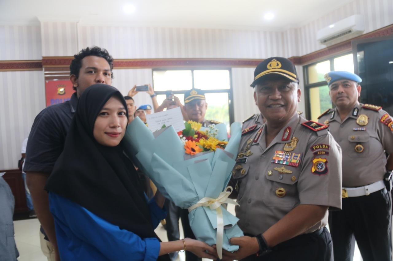 Mahasiswa Aceh Apresiasi dan Ucap Terima Kasih Kepada Kapolda Aceh Rio S. Djambak