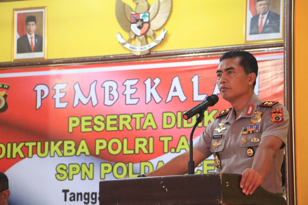 Kapolda Aceh Beri Pembekalan Untuk Siswa Diktuba Polri di SPN Seulawah