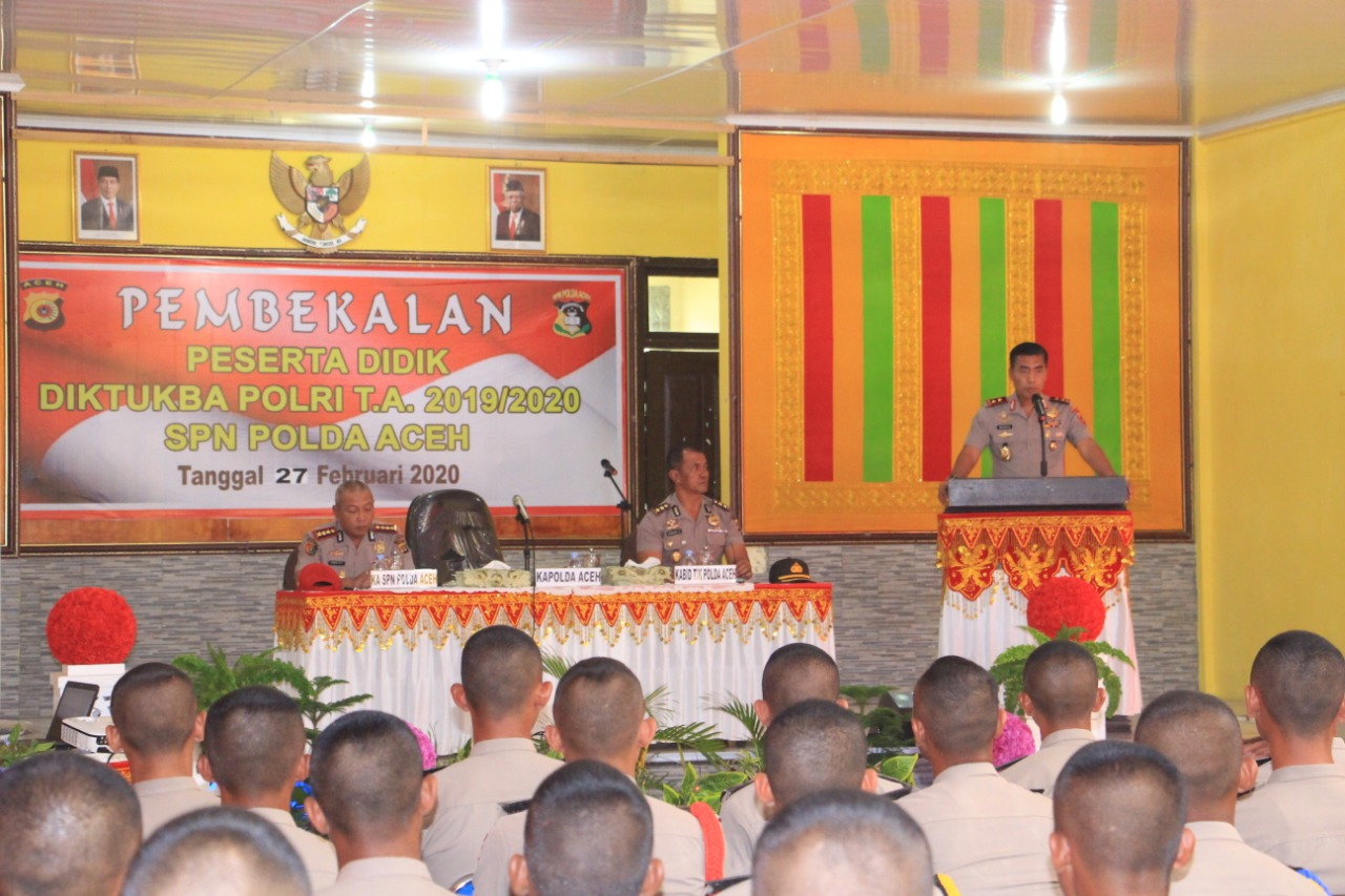 Kapolda Aceh : Siswa Diktuba Jangan Terpengaruh Dengan Radikalisme