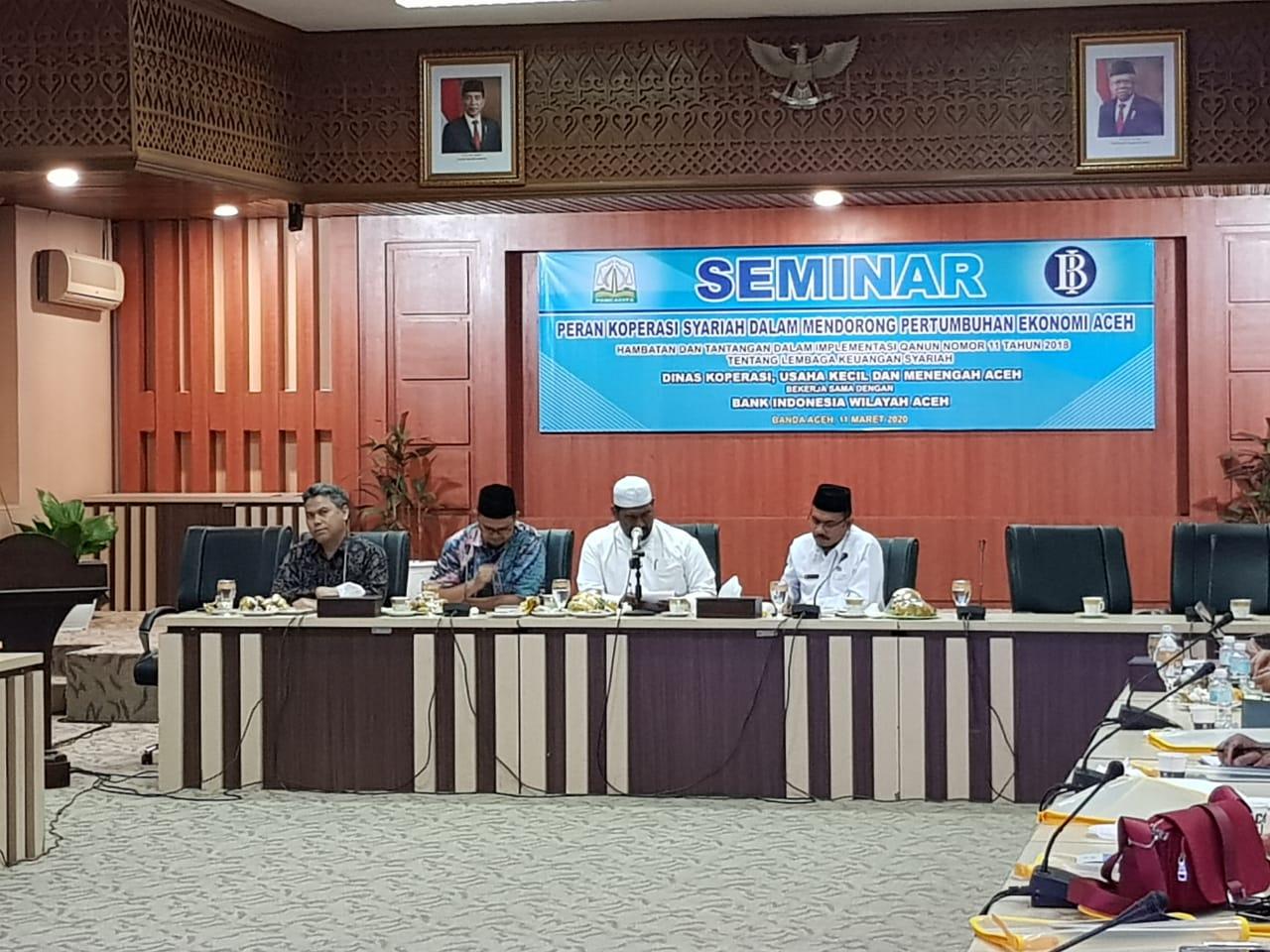 BI Gelar Seminar Terkait Peran Koperasi Syariah di Aceh