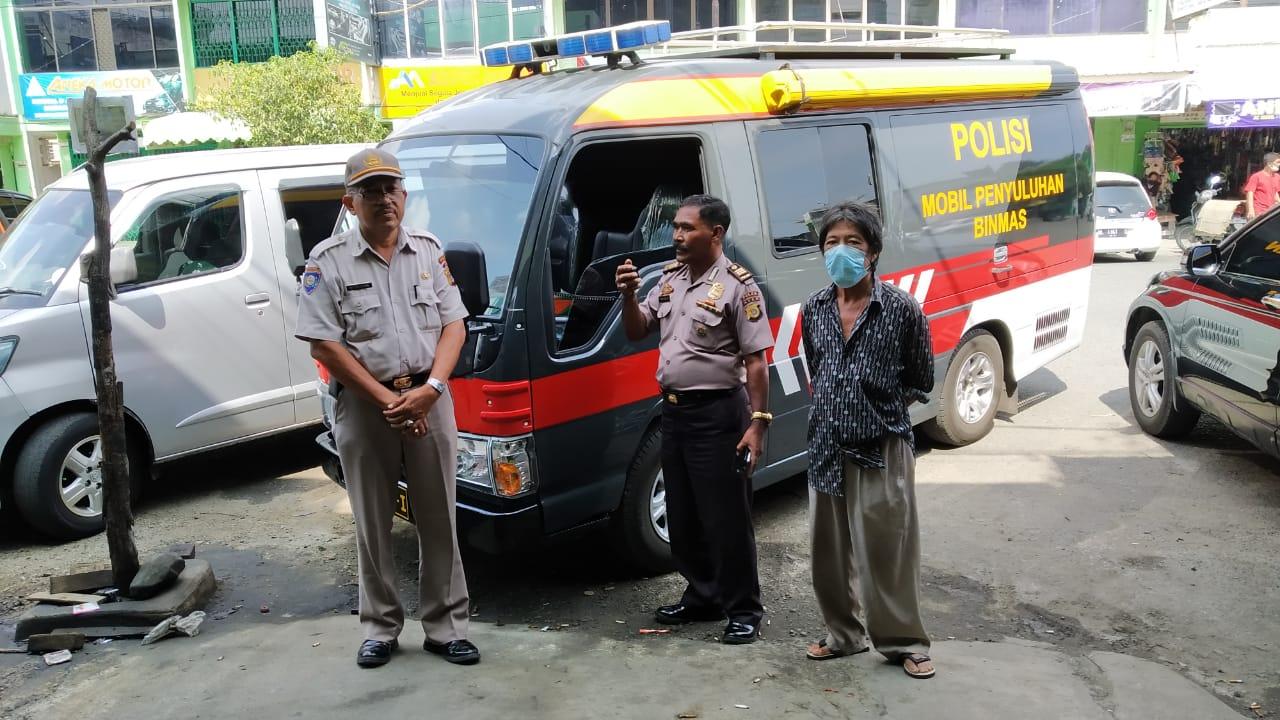 Personel Dit Binmas Polda Aceh Himbau Warga Antisipasi Corona