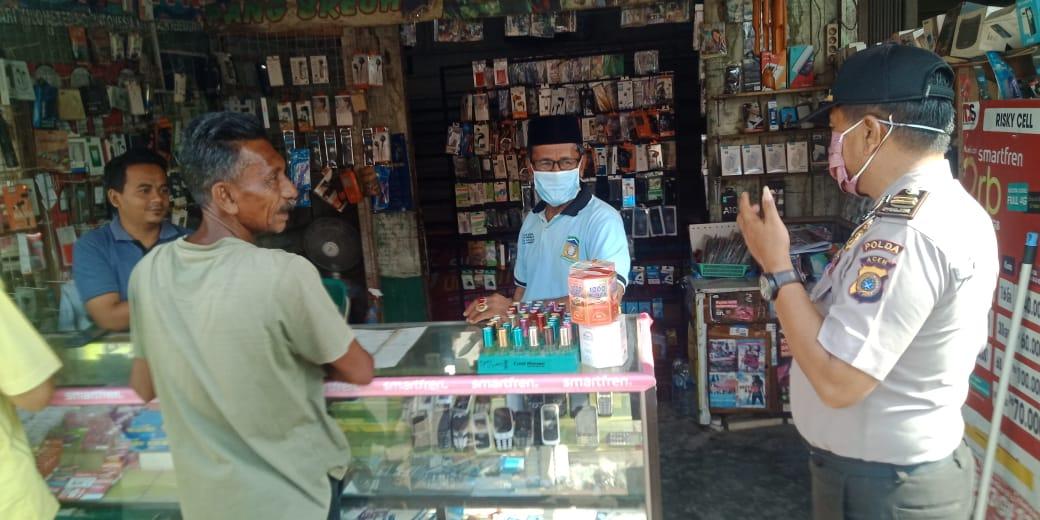 Lagi, Personel Dit Binmas Polda Aceh Himbau Warga Antisipasi Corona