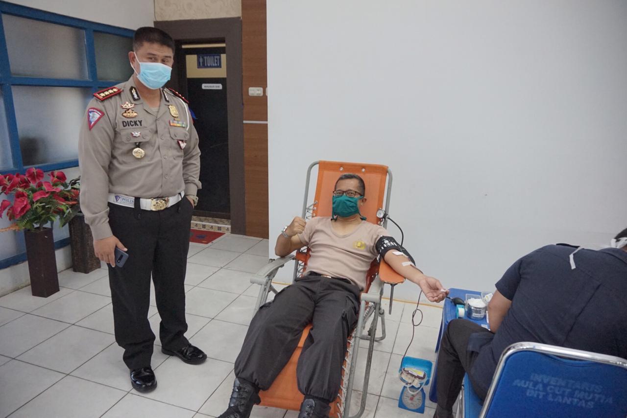 Ditlantas Polda Aceh Sumbang 41 Kantong Darah