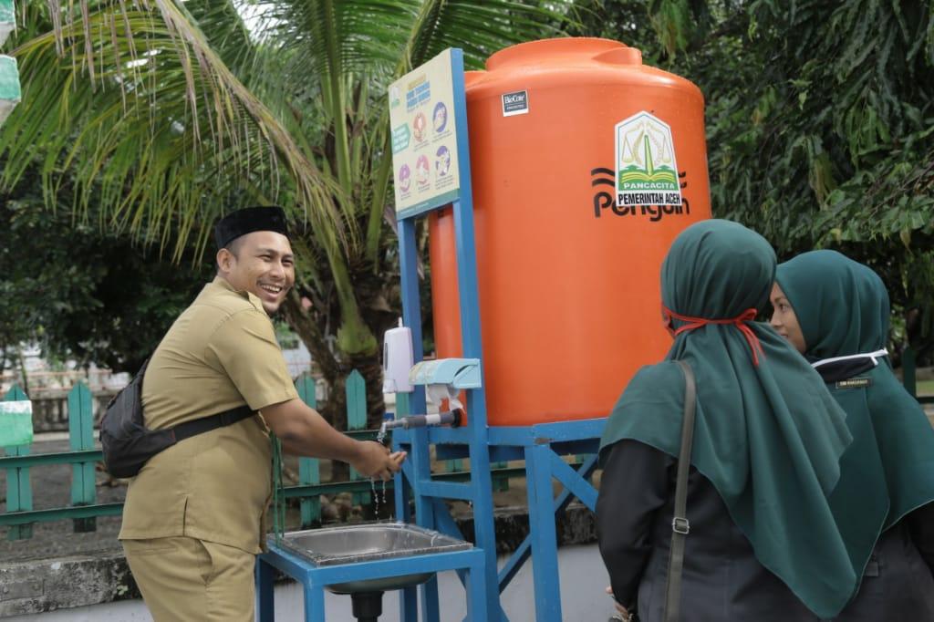 Pemda Aceh Barat Terapkan Protokol Kesehatan Saat Silahturrahmi Bersama ASN