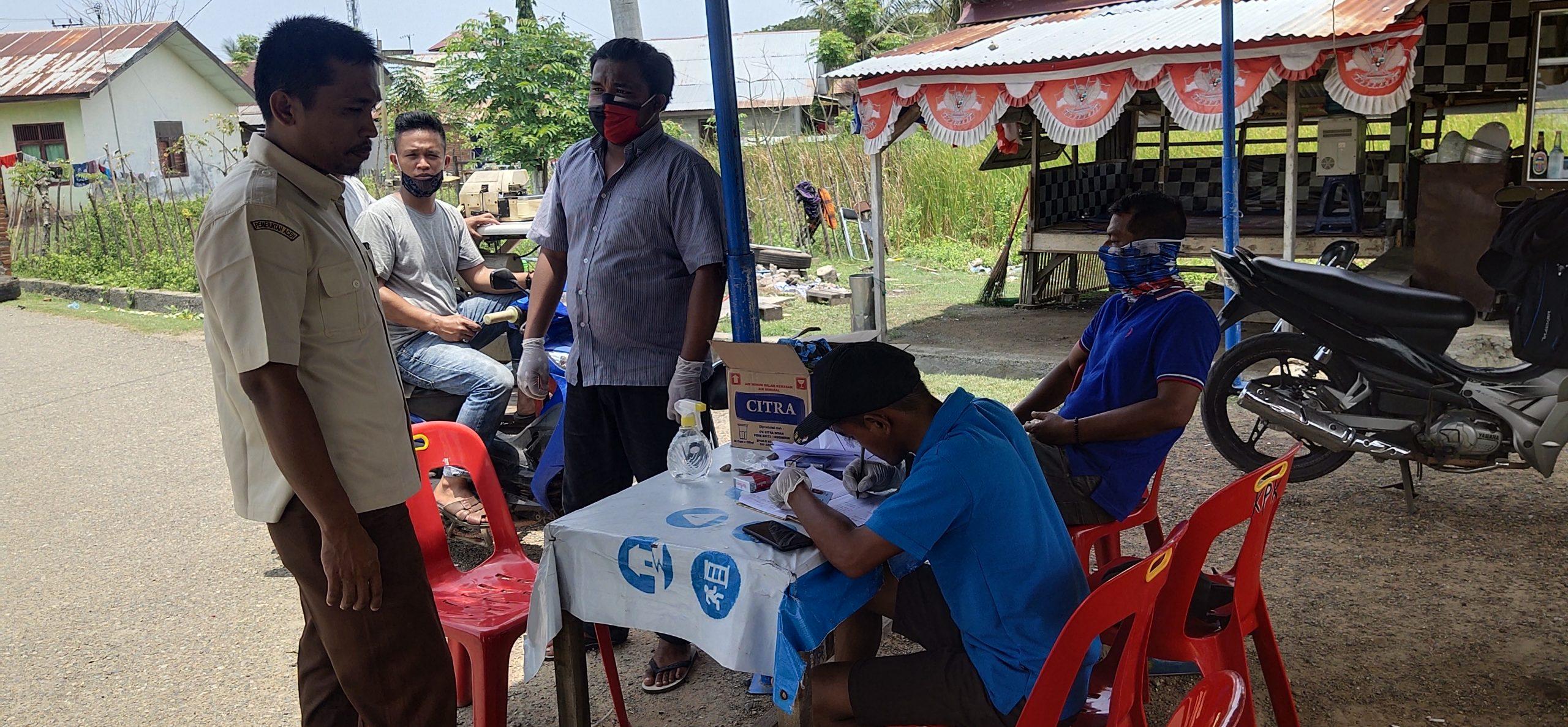 Pemuda Dusun Pola Keumala Kajhu Bentuk Posko Penanganan Covid-19